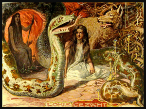woman_sitting_next_to_snake